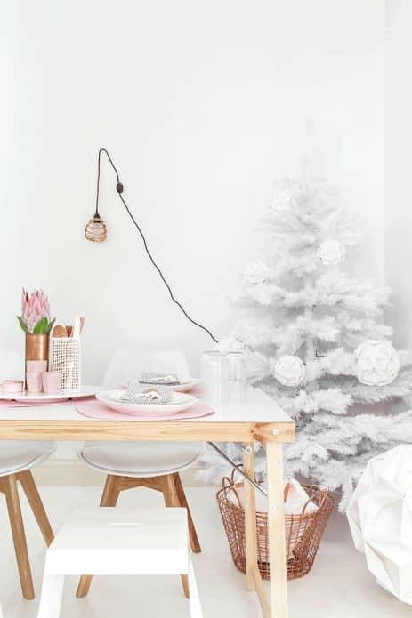 Natale in bianco e rosa - Arredo Casa