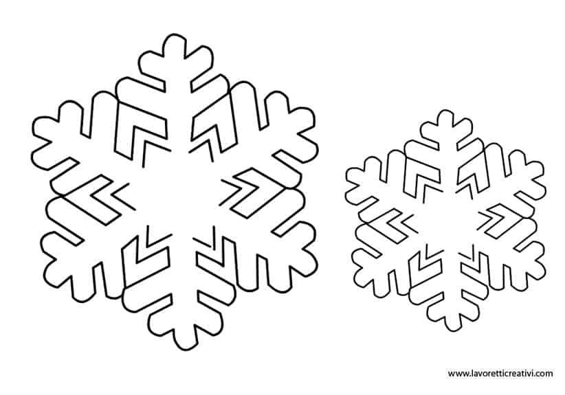 Fiocchi di neve - Immagini da scaricare