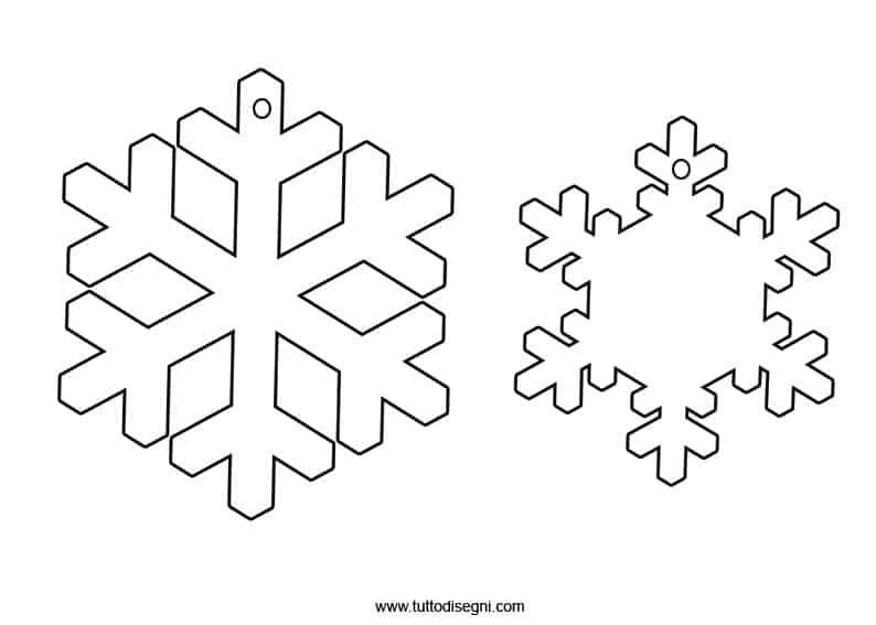 Cristalli di neve da ritagliare