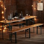 gambe per tavolo e panche da birreria per sagre e feste tavoli pieghevoli da tenere a casa per cene con amici