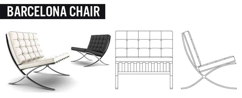 BARCELONA CHAIR - Sedie in pelle di Design