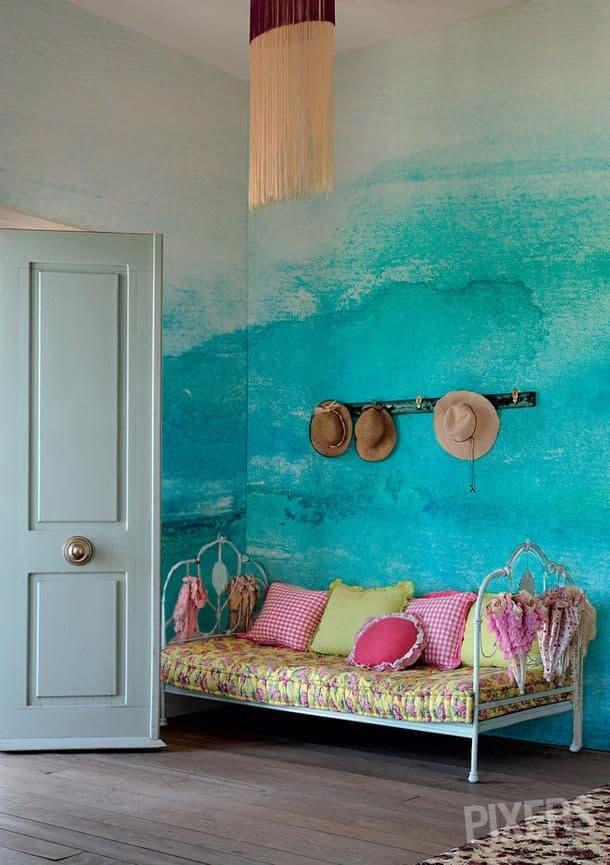 Trend casa 2015 pareti decorate che arredano - Colorare pareti casa ...