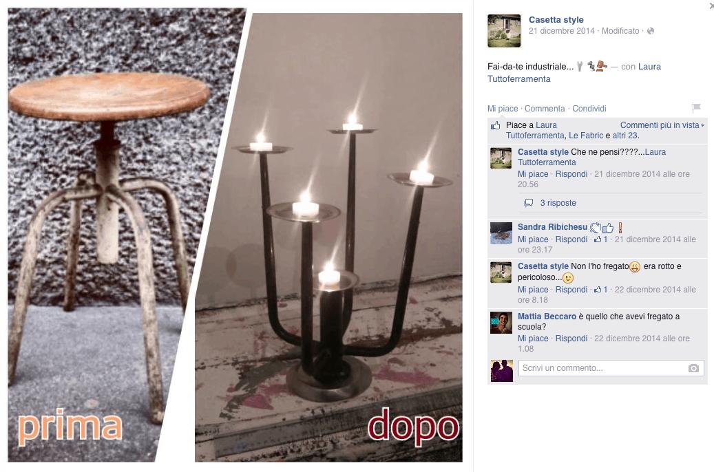 Diy candelabro casetta style