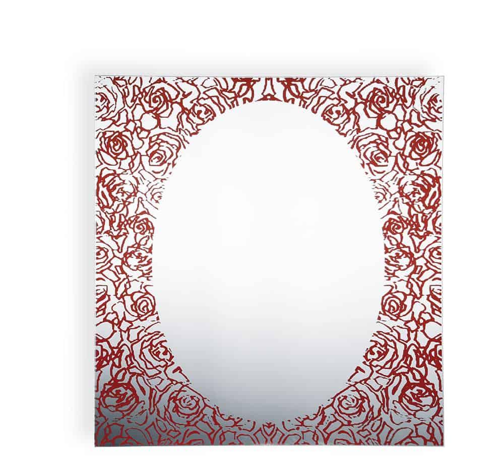 Specchio rettangolare Rose Rosse Betti K 8055
