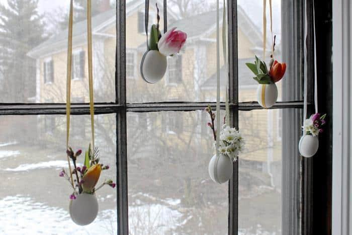 13 uova di pasqua vasetti per fiori idee decorazioni fai da te per la casa