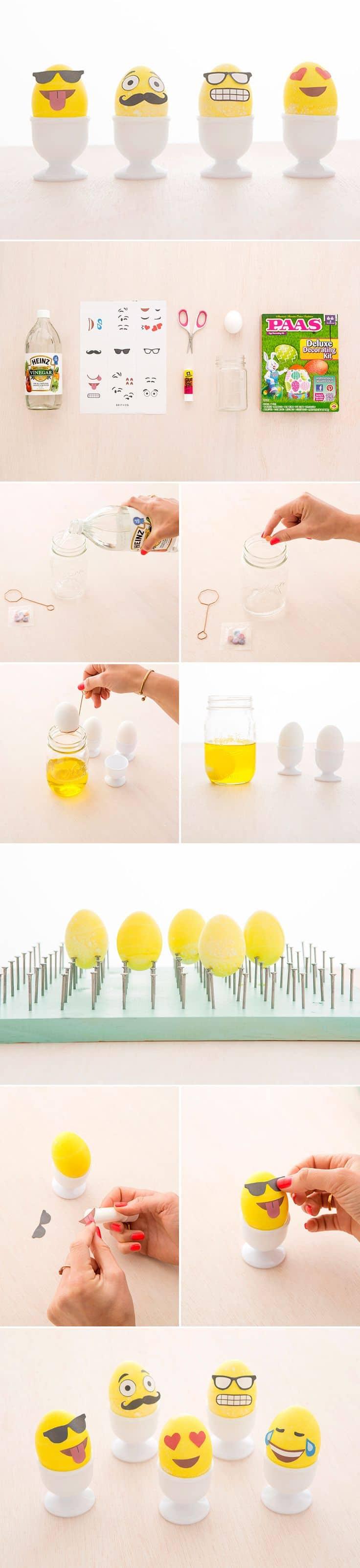 DIY Pasqua Emoticons Uova
