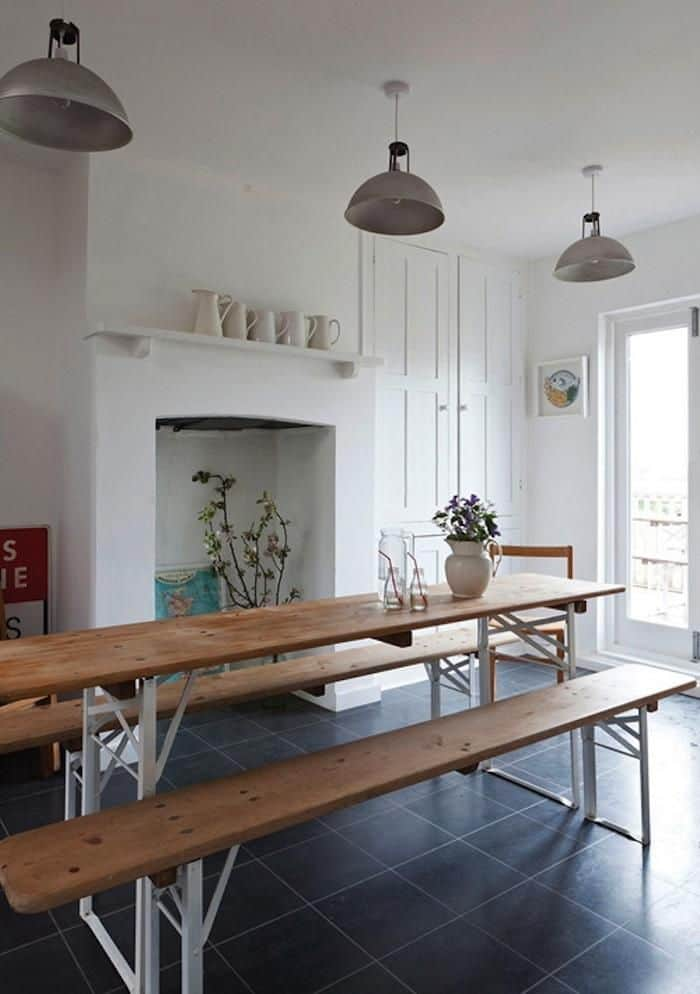 set tavolo e panche in legno con gambe pieghevoli per la casa tuttoferramenta