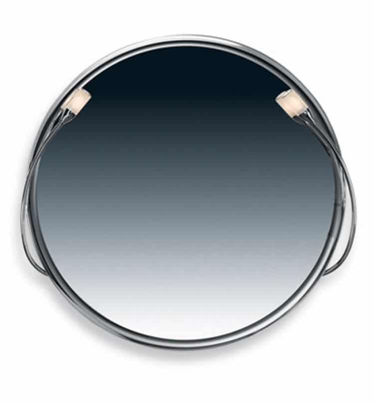 Specchio rotondo Valli Arredobagno serie Daqva K 6152 bordo lucido