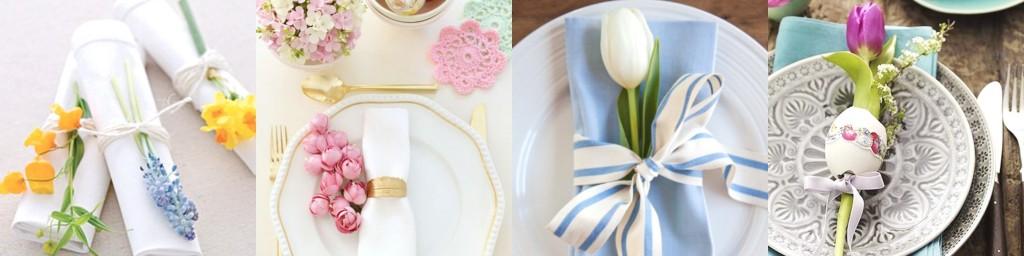 collage fiori a tavola