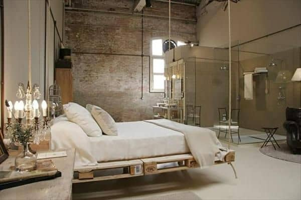 Letto Sospeso In Aria : Pallet mania il letto fai da te di bancali che ti farà sognare