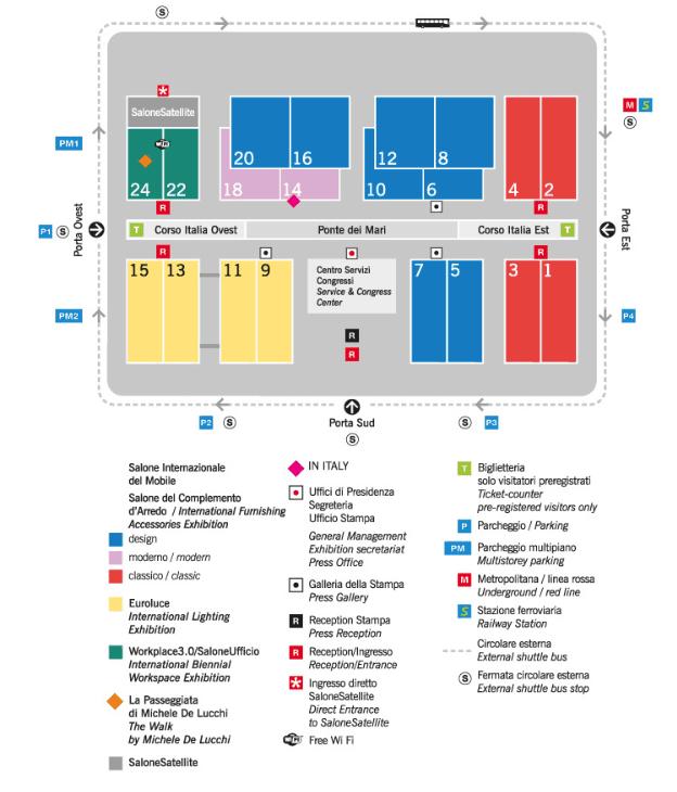 mappa salone del mobile milano 54° edizione salone internazionale del mobile settimana del design olivari fusital opinion ciatti tuttoferramenta