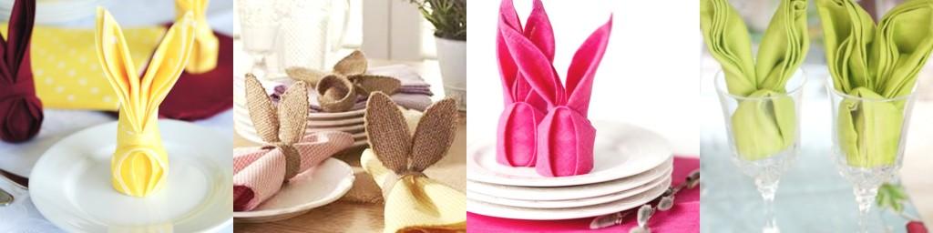 tovaglioli coniglio pasquetta uova colorate tuttoferramenta