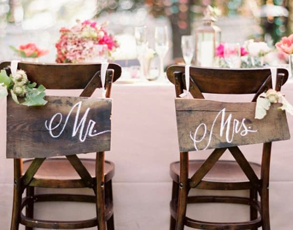 Mr Mrs - Decorazioni Matrimonio