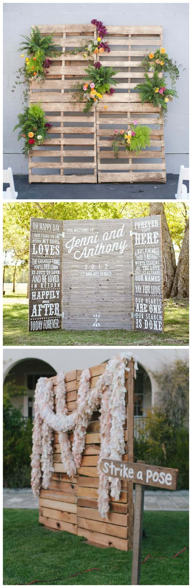 POSTAZIONE PER PHOTO BOOTH WEDDING CON PALLET