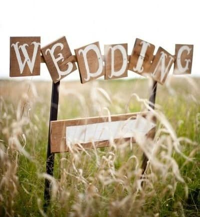wedding country chic shabby hippie con pallet