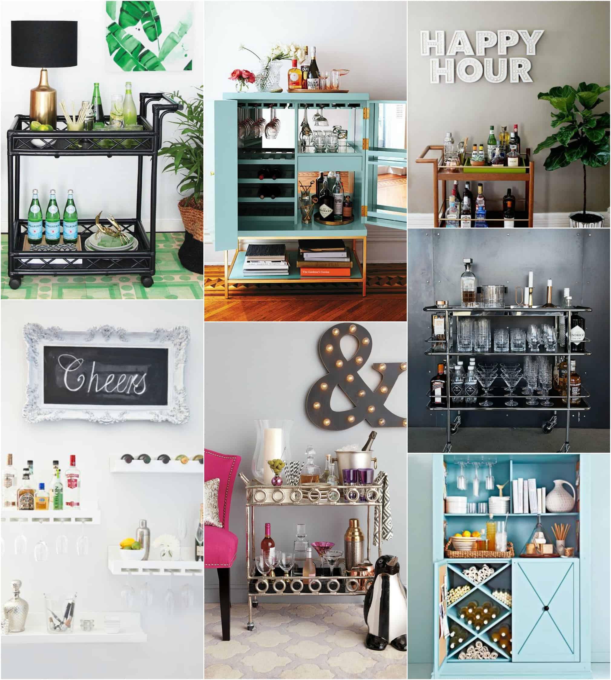 Bancone Bar Per Casa mini-bar : angolo di relax fai da te con porta bicchieri di