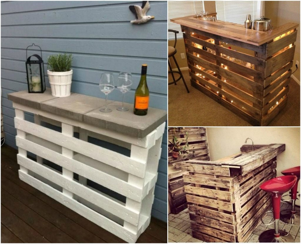 mobile bar di pallet per casa e giardino ideas pallets outdoor