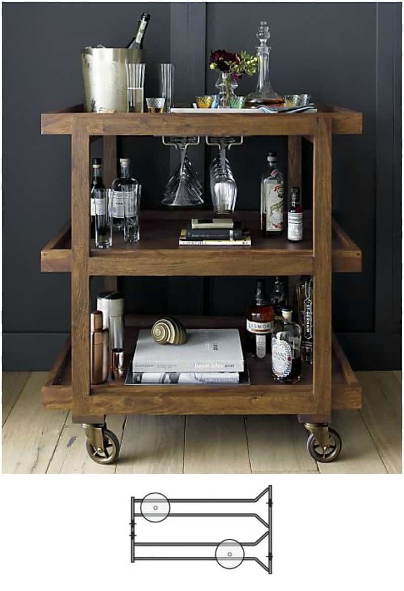 Mini bar angolo di relax fai da te con porta bicchieri for Piani di casa sotto 100k da costruire