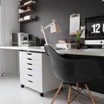 idee arredo scrivania cavalletto lampada di legno per ufficio fai da te