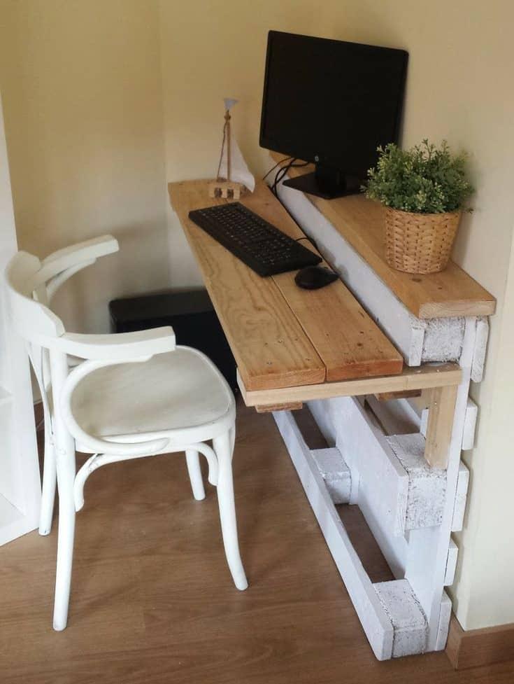 8 consigli per il ritorno in ufficio idee di arredo e nuovi progetti - Tavolo a muro fai da te ...
