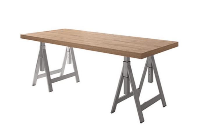 tavolo per ufficio con cavalieri di design stile industriale