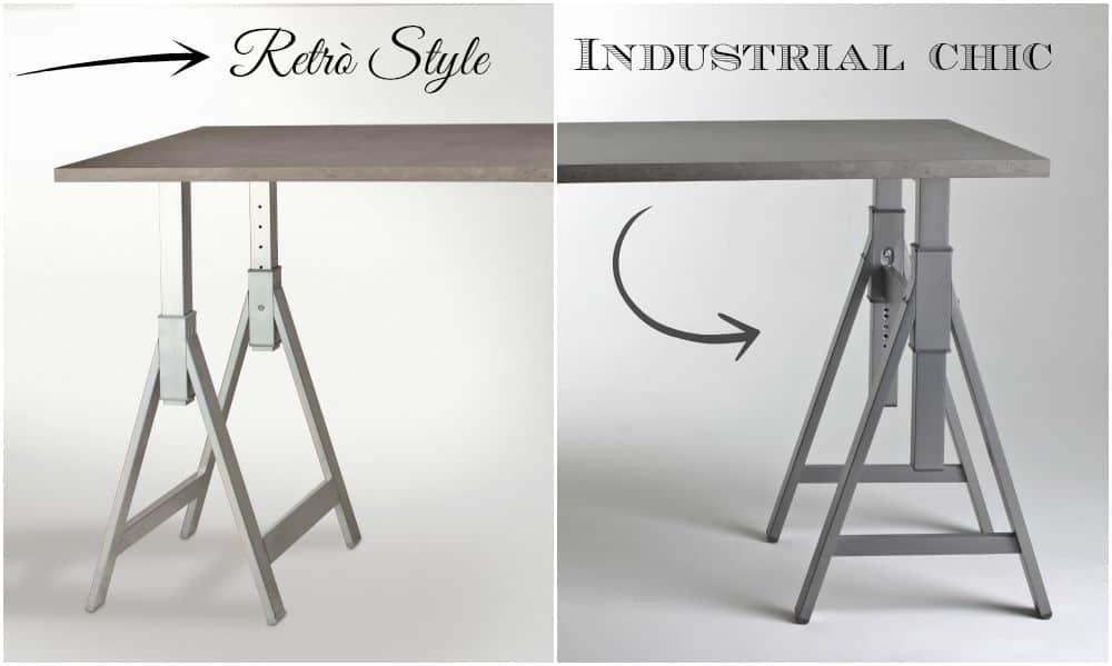 gamba cavalletto per scrivania ufficio gambe tavolo industrial