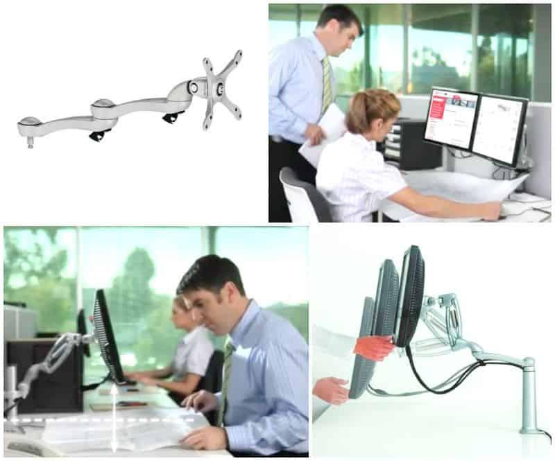 supporto per monitor doppio braccio per pc e bracci per tv hafele