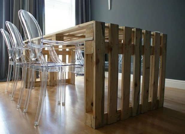 tavolo per ufficio riunioni con bancali tuttoferramenta epal pallet