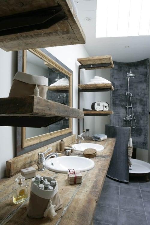 Accessori bagno rustico le 5 idee pi belle - Bagno casa di campagna ...