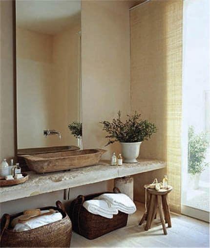 Bagno elegante in stile rustico