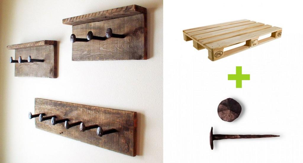 Portabiti in legno con chiodi - Tutorial