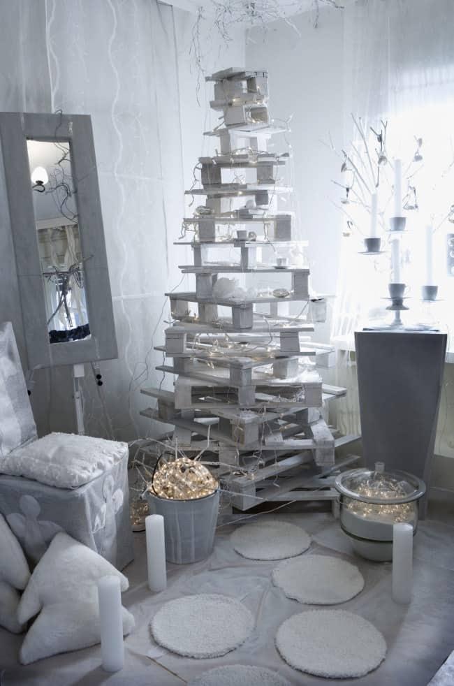 Albero di Natale Alternativo Pallet