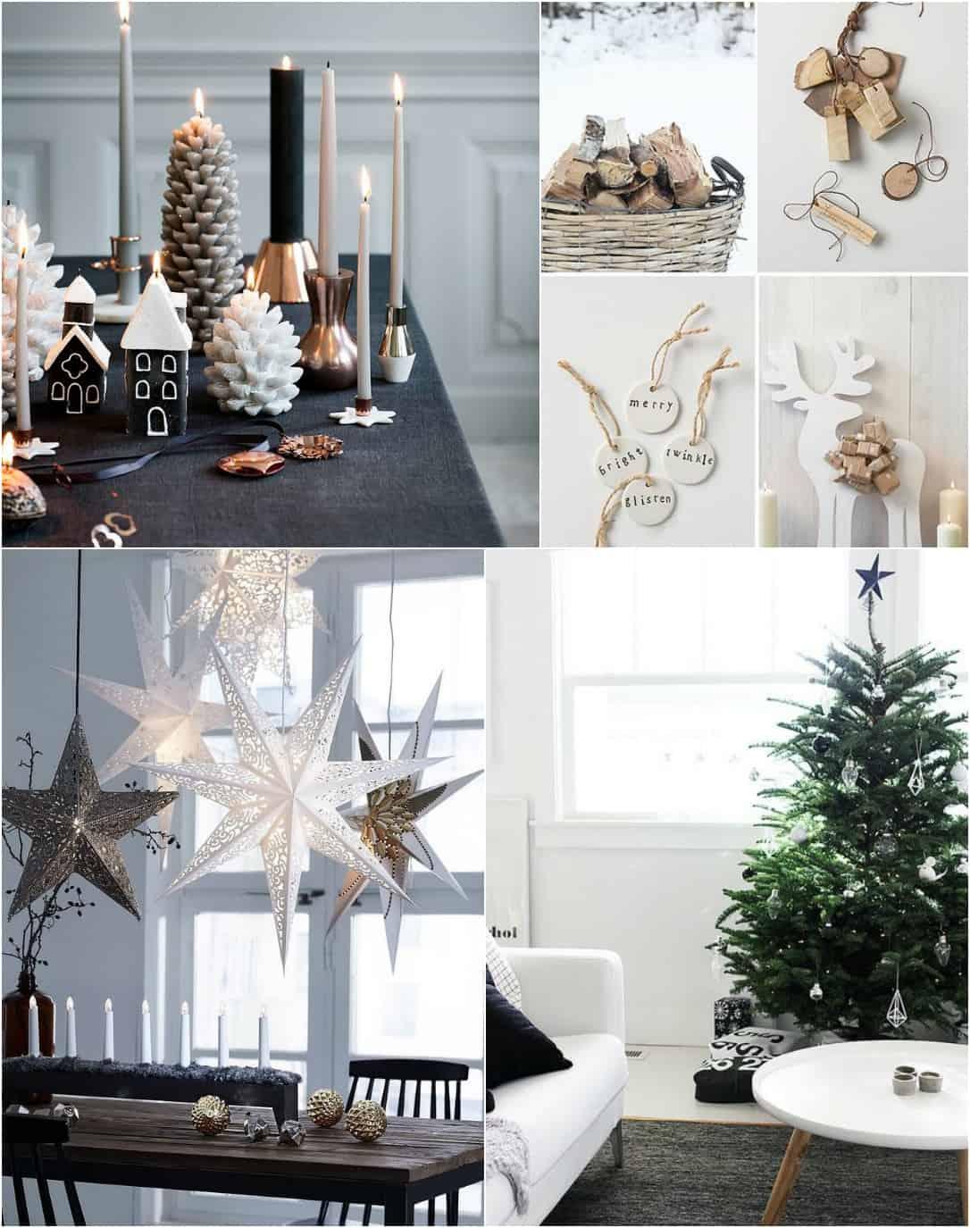 Natale abbandobbi con le decorazioni colorate e luccicanti per immergervi nei toni più bianchi della neve del Nord e nelle delicate forme dei dettagli dal gusto Scandinavian Chic