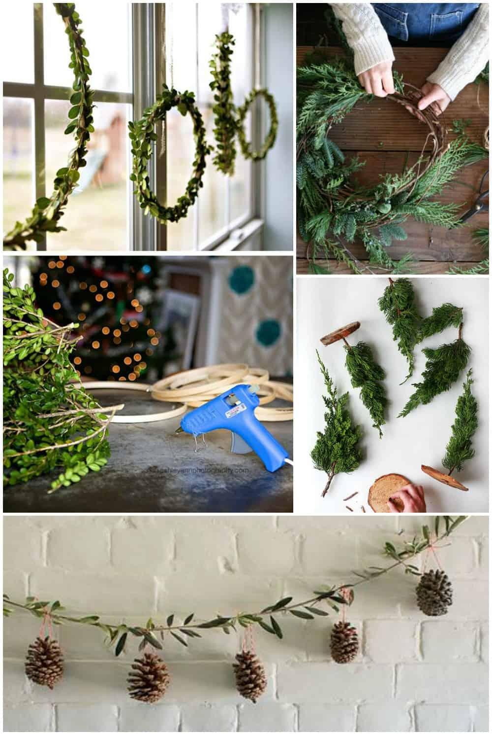 Natale arredo tendenze shabby chic stile scandinavo e - Decorazioni natalizie legno fai da te ...