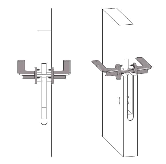 maniglie per porte disegno tecnico coppia di maniglia