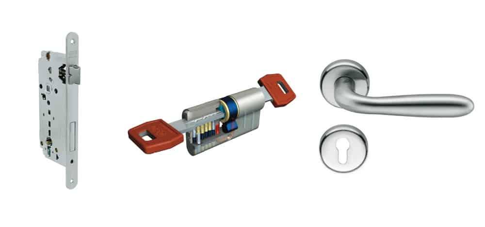 serratura di sicurezza e cilindro per porta blindata