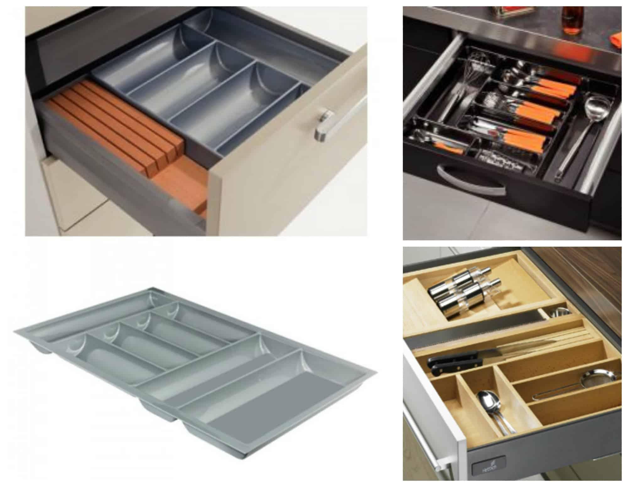 Cassetti della cucina cosa mettere e come organizzarli al - Portaposate per cassetti ...