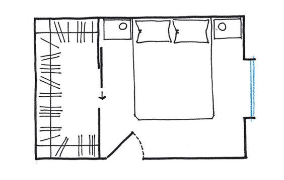 Planimetria per cabina armadio