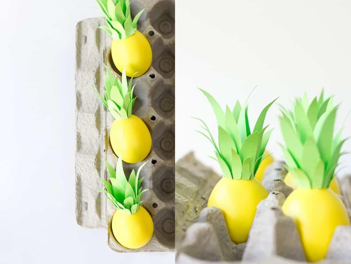 decorazione Uova di Pasqua Ananas