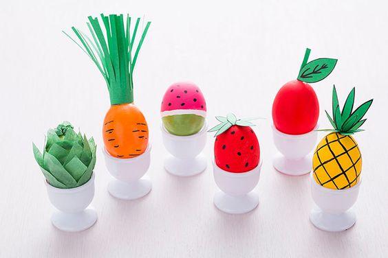 Uova di Pasqua Vegane decorazioni