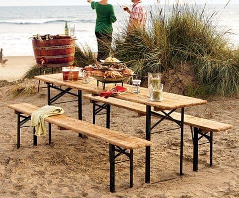 pic nic di pasquetta tavolo pieghevole con panche per la spiaggia tuttoferramenta