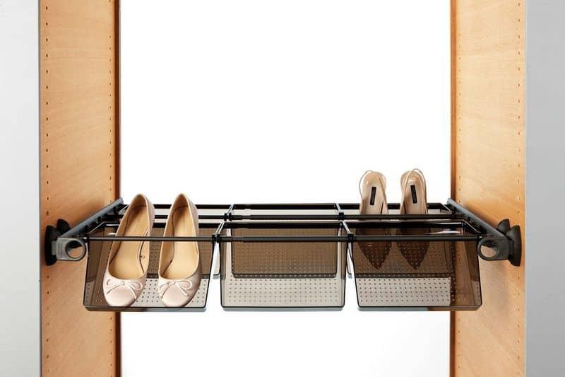 porta scarpe con vaschette estraibili per armadio