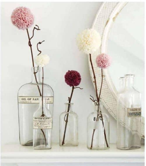 Tutorial per fiori con pon pon di lana