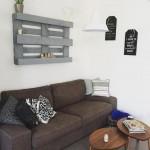come decorare una parete con bancale pallet epal mensola legno