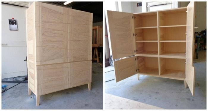 mobile armadio per bagno artigiano made in italy falegnameria