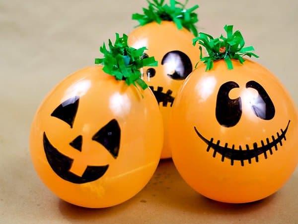 Palloncini zucche effetto dolcetto o scherzetto Halloween