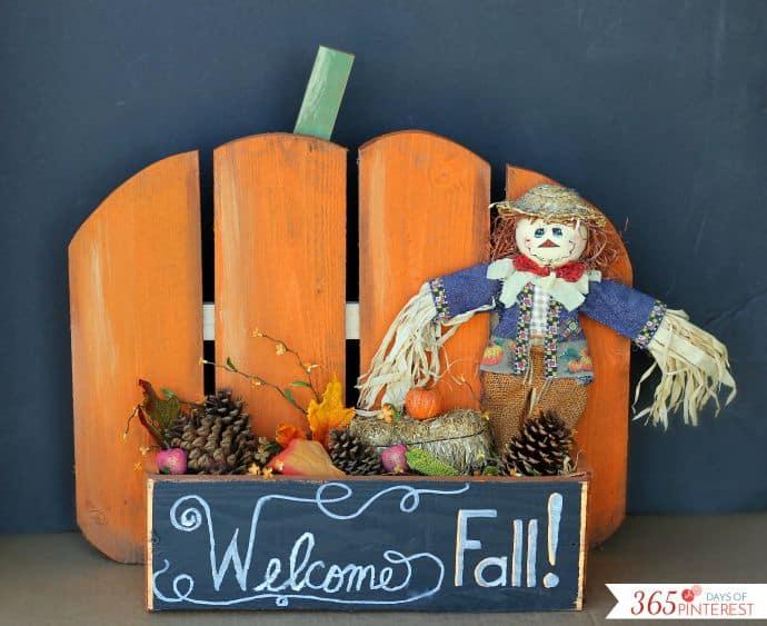 Zucca pallets con box - Halloween fai da te