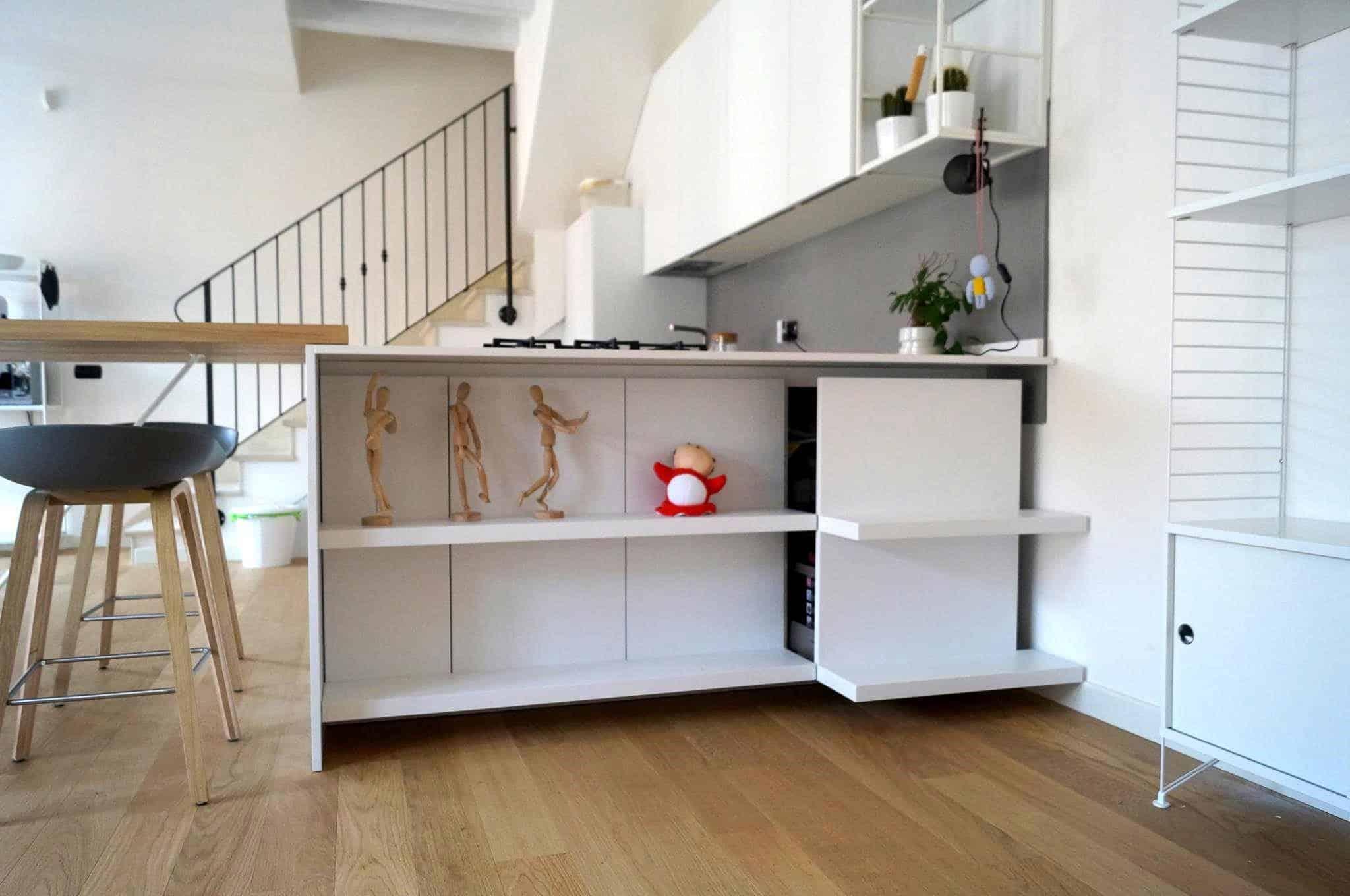 Penisola in cucina un bancone snack con gamboni da sogno - Idee per la cucina moderna ...