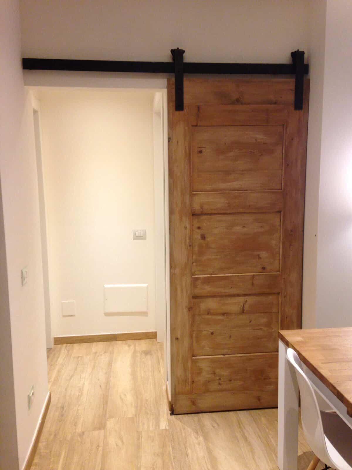 Binario per porta scorrevole in ferro le fabric design Barn Door lunghezza 2 metri anticato ruggine porta da 80 cm porta da 90 cm porta fienile