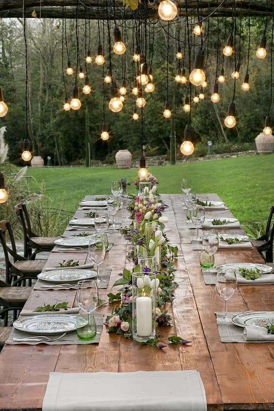 sere di estate tavolo giardino
